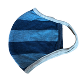 Blue stripe Kids washable cotton face mask