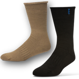 Australian Merino Wool & Bamboo Durasock Men's Brown and Navy