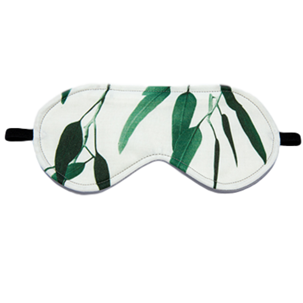 Australian made cotton eye masks gum green