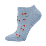 Bamboo Yoga & Pilates Ladies' Socks cherry on blue