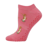 Bamboo Yoga & Pilates Ladies' Socks meerkat on pink