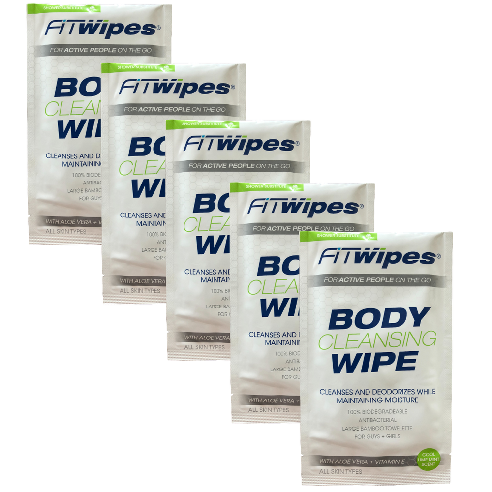 Wow Wipes Body cleansing wipe (packs of 5 or 10)