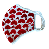 Hearts: Washable cotton face mask