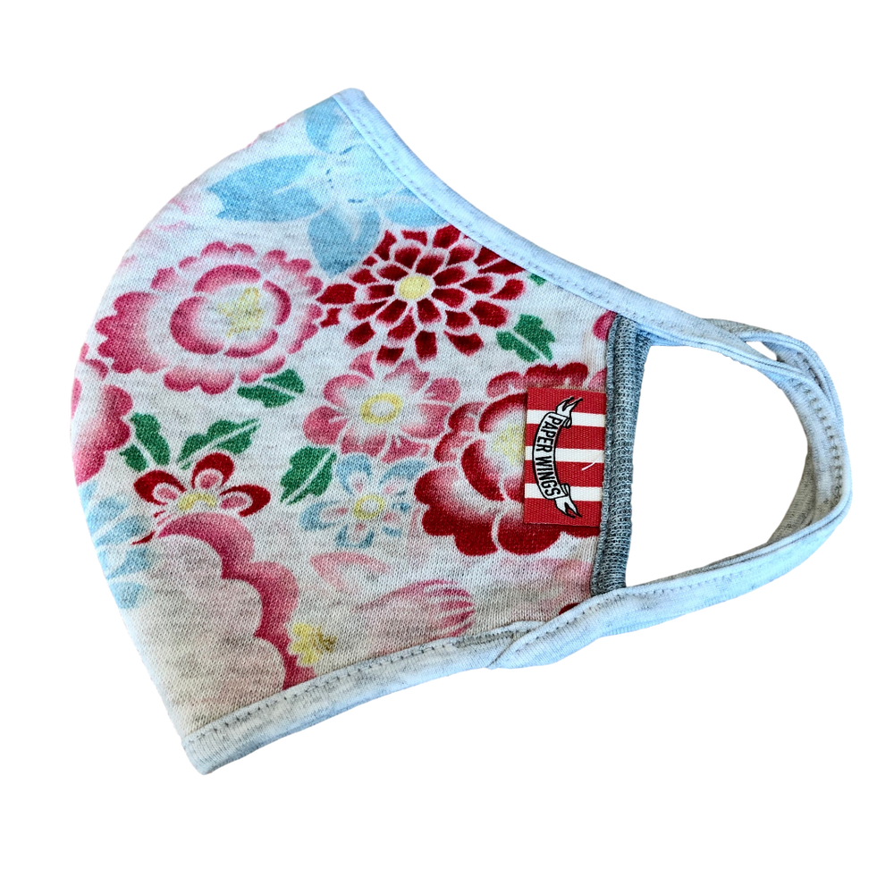 Flowers: Washable cotton terry face mask