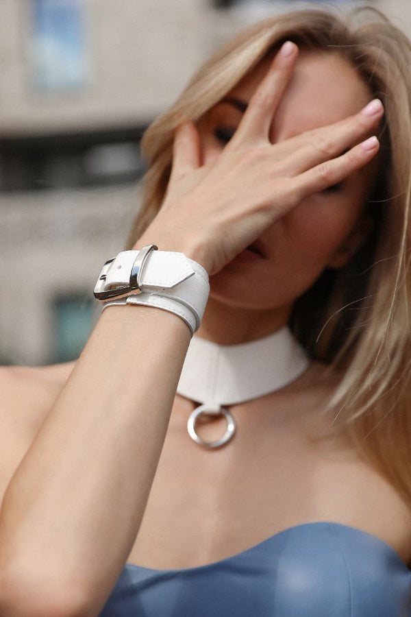 'ELEMENT' CUFF - ICE WHITE