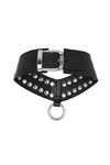 'ELEMENT' STUDDED CHOKER - PITCH BLACK