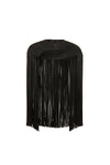 'ELEMENT' FRINGE BOLERO - PITCH BLACK