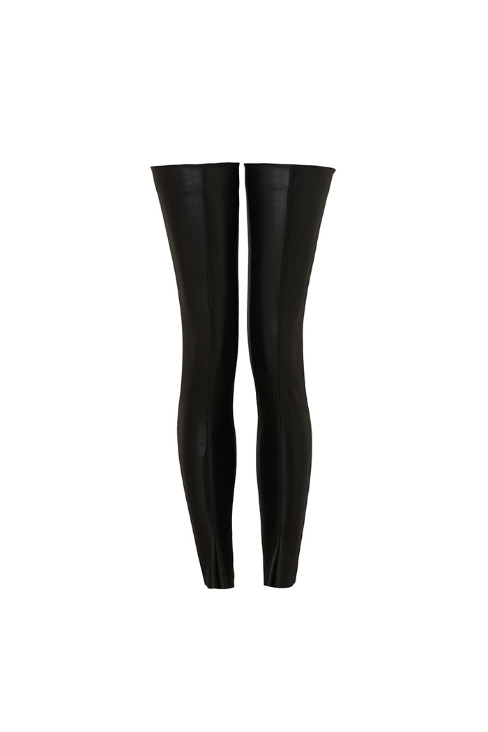 'ELEMENT' STRETCH LEG WARMERS - PITCH BLACK