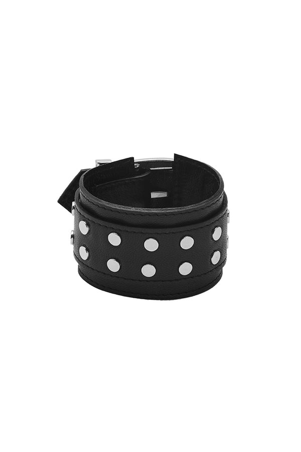 'ELEMENT' STUDDED CUFF - PITCH BLACK