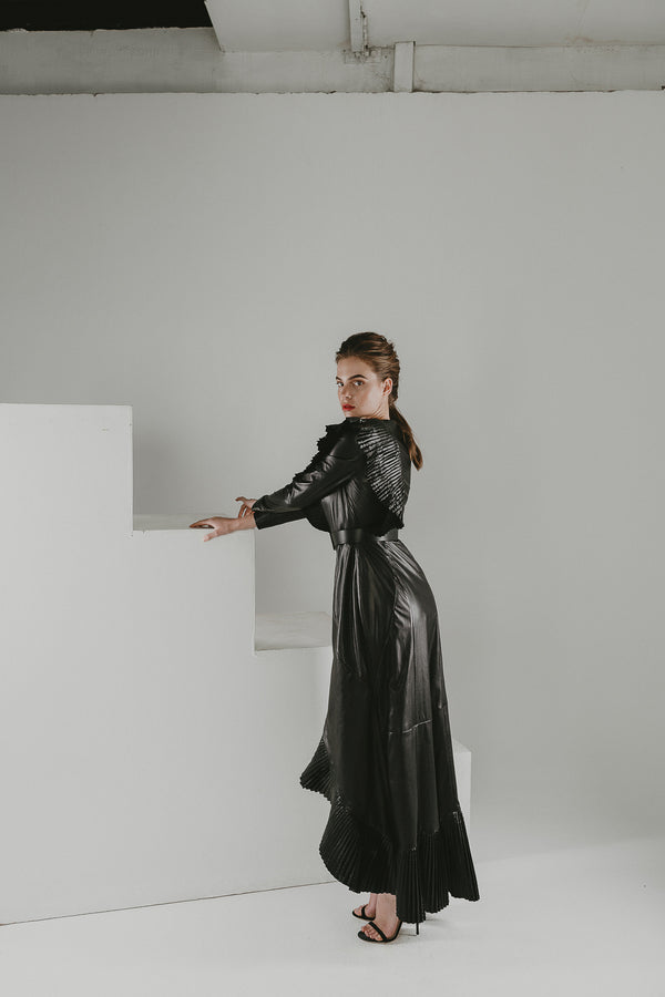 Maxi leather gown