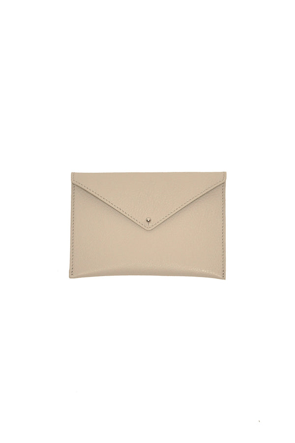 rockstar beige leather envelope for keys and cards small leather goods