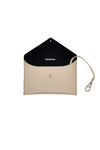 Rockstar beige genuine leather pouch with key holder