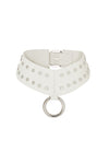 'ELEMENT' STUDDED CHOKER - ICE WHITE