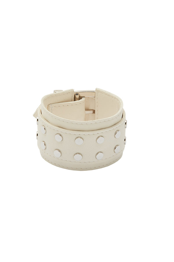 'ELEMENT' STUDDED CUFF - ICE WHITE