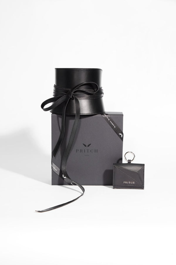 gift set from pritch in black leather
