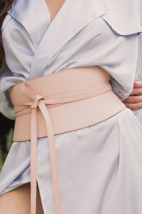 CORSET BELT - POWDER PINK