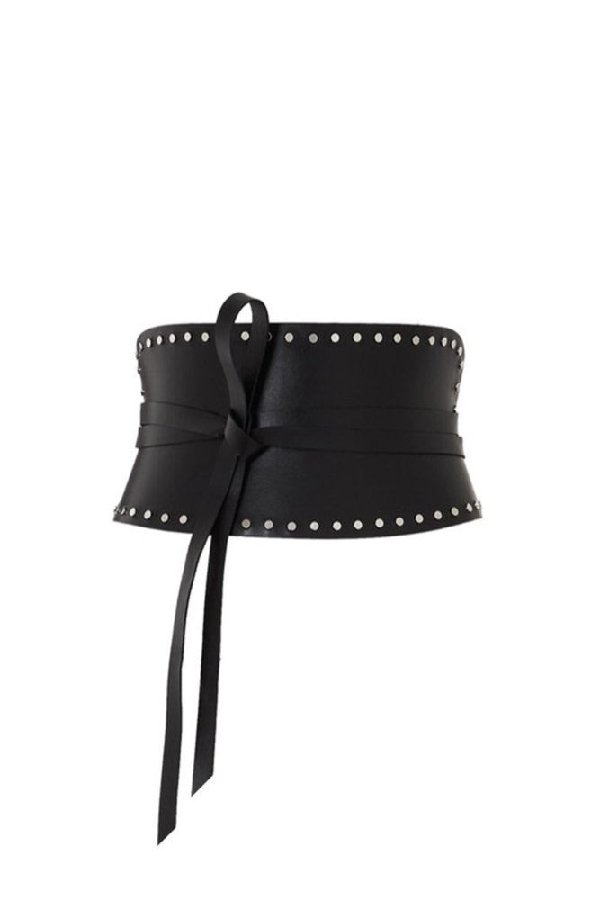 corset belt with studs simple