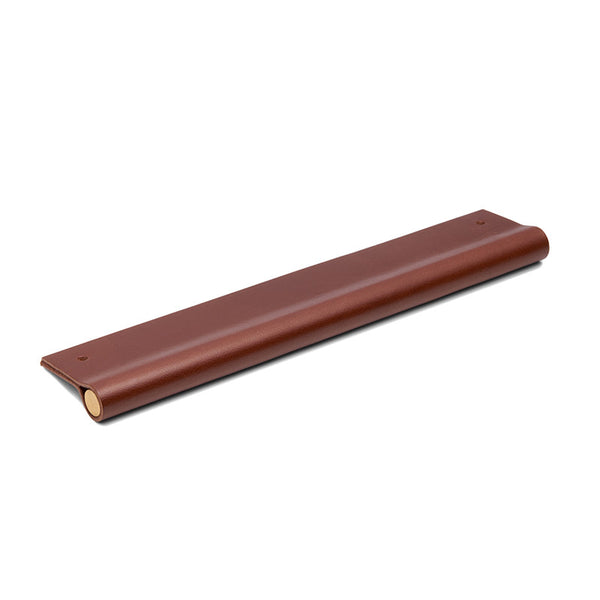 Leather Recessed Pulls | British Tan | Matching Edge | Brass Core | from