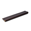 Leather Recessed Pulls | Brass Core | Chocolate from