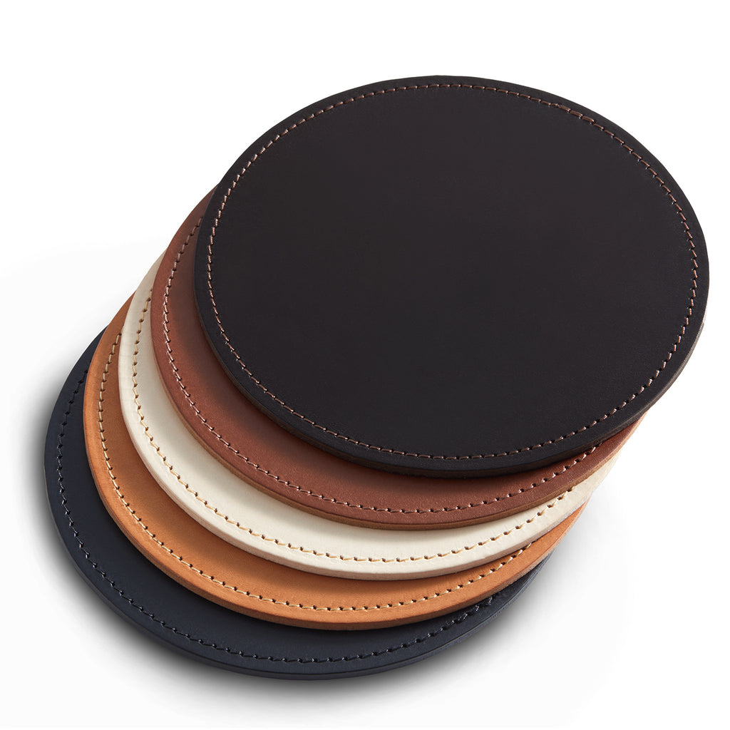 Leather Mat | Round | Colour Options 6-10 from