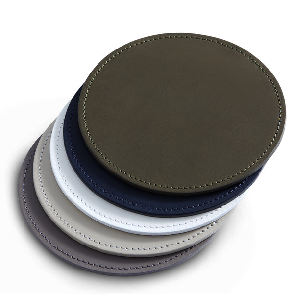 Leather Mat | Round | Colour Options 1-5 from