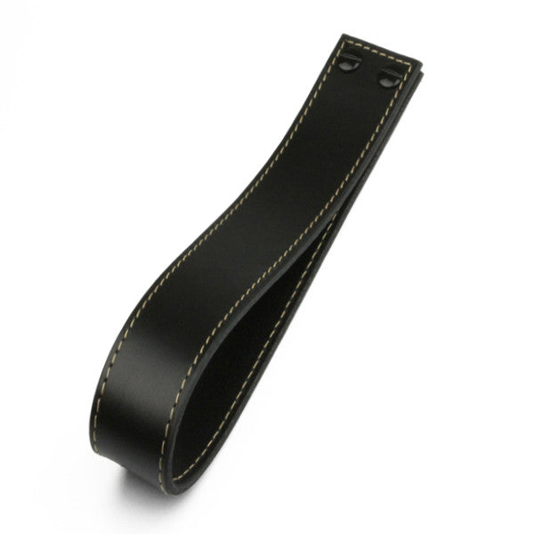 Leather Loop | Contrast Stitch | Black