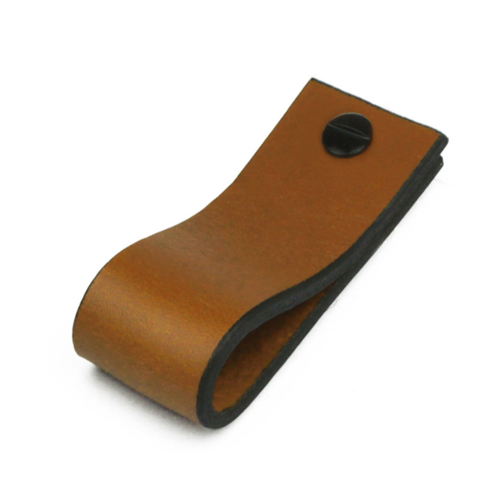 Leather Tab Long | Saddle Tan