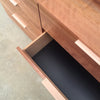 Leather Recessed Pulls | Midnight | Matching Edge | Raw Oak Core