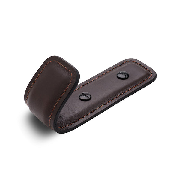 Leather Half Coat Hook | Chocolate