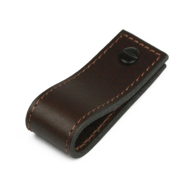 Leather Tab Long | Matching Stitch | Chocolate