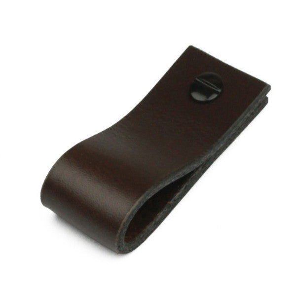 Leather Tab Long | Chocolate