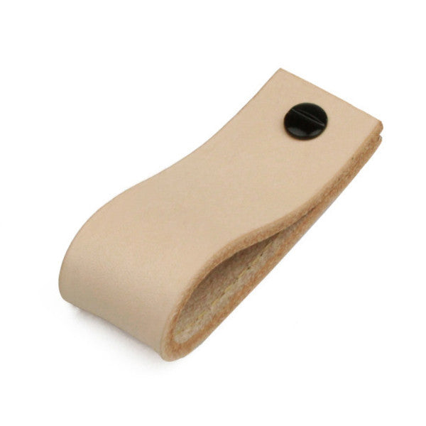 Leather Tab Long | Natural | Natural Edge