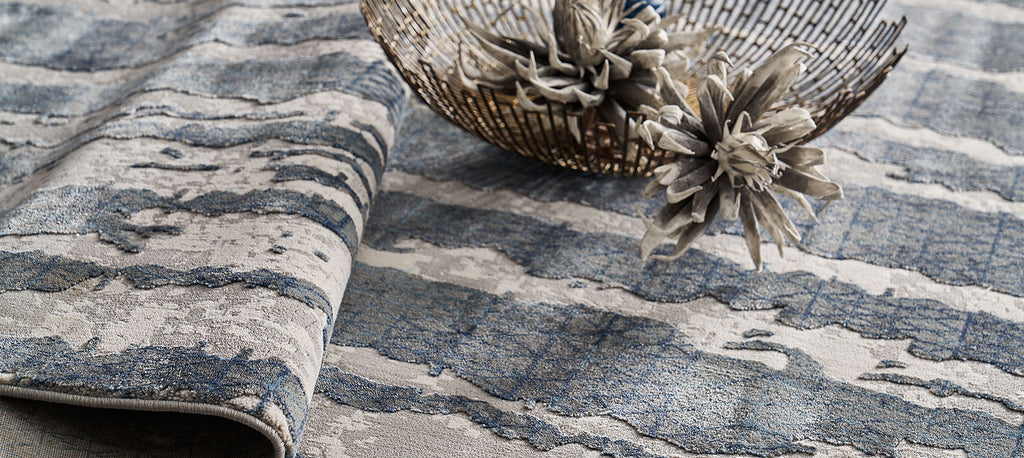 Liberta Carpet - Grey/Dark Blue (160x230cm)