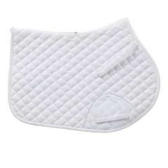 Quilted Coolmax® Euro Close Contact Pad - White - Horse Gear Canada