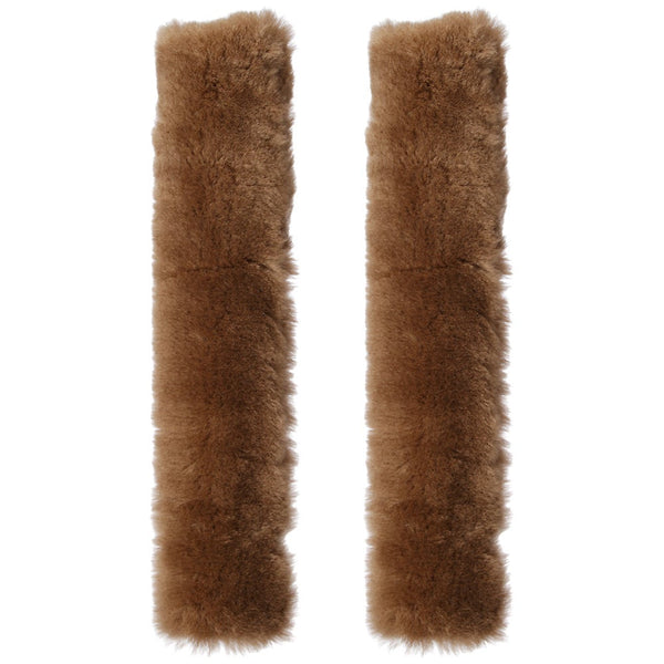 "Sheepskin 1"" Stirrup Leather Covers Pair - 18"" Tube style"