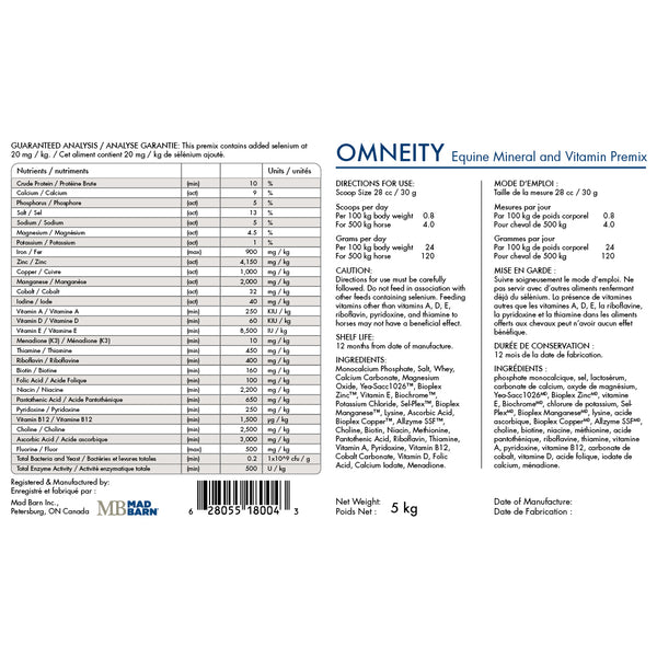Omneity Mineral and Vitamin Premix