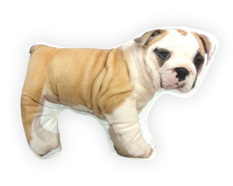 Okrasni vzglavnik English Bulldog - rjavi