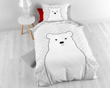 Posteljnina Cute Bear Grey
