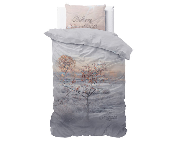 Posteljnina Dream tree- taupe