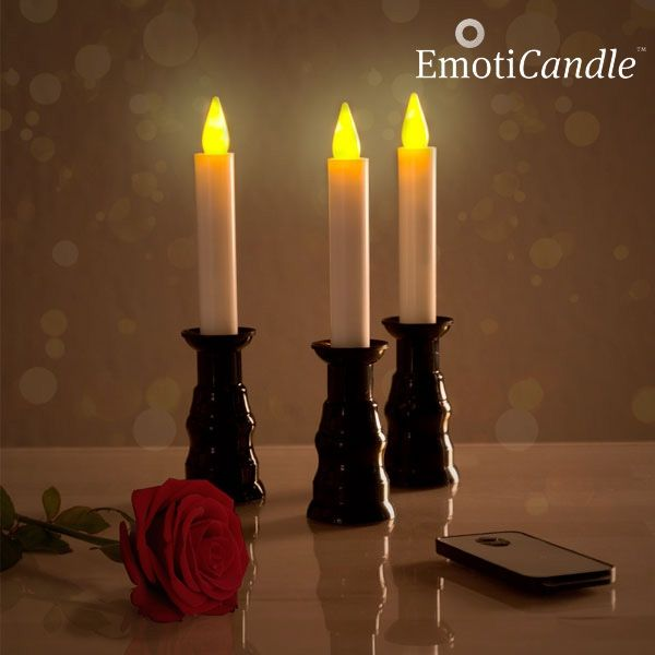 LED svečke EmotiCandle Romantic Ambiance (3 Kosi)