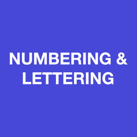 Numbering & Lettering