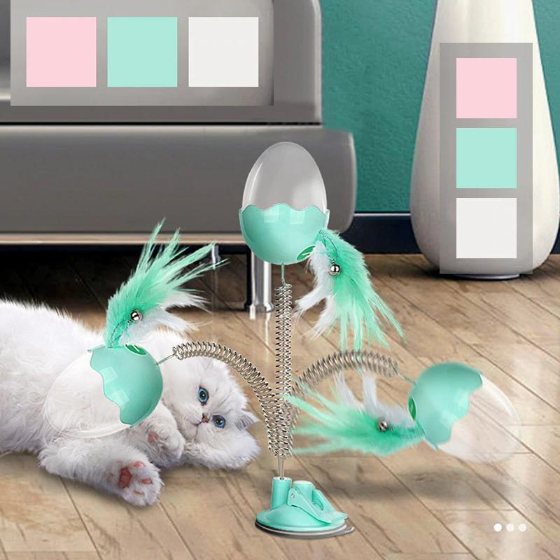 Funny Cat Toys With Bell Elastic Feather
