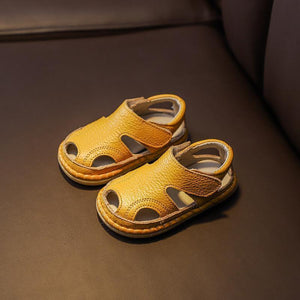 Baby Anti-collision Soft Bottom Leather Children Sandals (NOW 40% OFF)