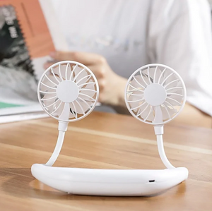 【Last Day Promotion & Best Summer Gift】Rechargeable Neckband Fan - Keep Cool Wherever You Are!