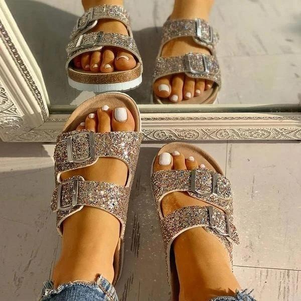 Flip Flop Flat With Buckle Slip-On Summer Casual Slippers
