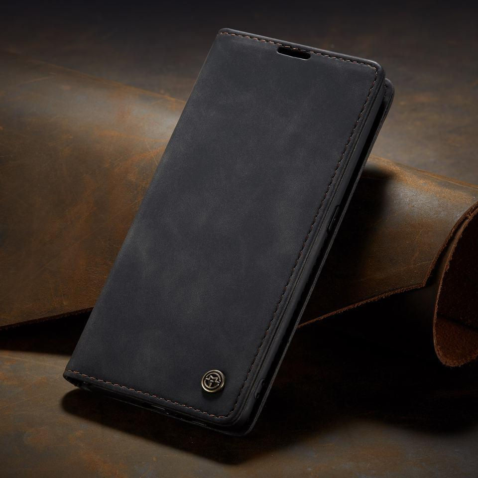 Auroras For Samsung Galaxy Cover Case Flip Magnetic Matte Leather Luxury Wallet Card Stand Phone Case For Samsung Galaxy
