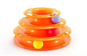 Three Levels pet cat toy Tower Tracks