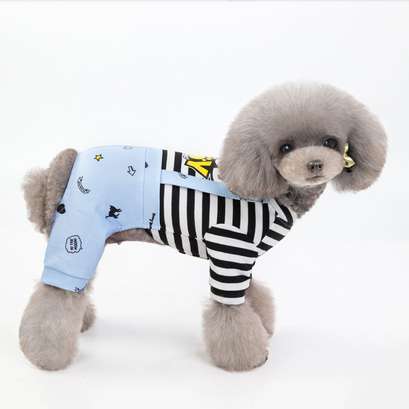 French Comfortable Pet Pajamas&Stripes