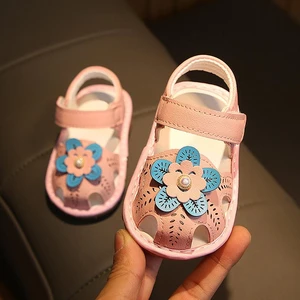 Baby Anti-collision Soft Bottom Leather Sandals (buy two free shipping )