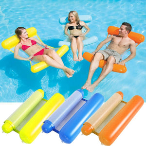 Floating Water Hammock -Swimming Lounger Backrest For Adults & Kids